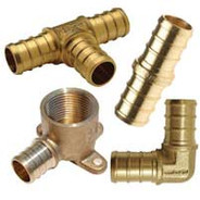 Crimp Style Brass Fittings PEX x PEX