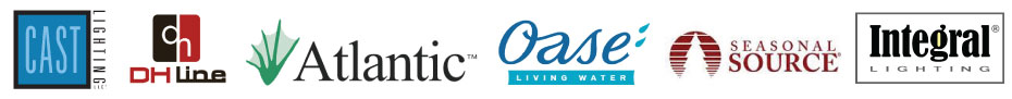 We carry products by Cast, Atlantic Water Gardens, Oase, Seasonal Source, Integral, DH Line