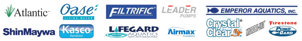 We carry products by Oase, Atlantic Water Garden, Filtrific, Firestone, Kasco, Microbe-Lift