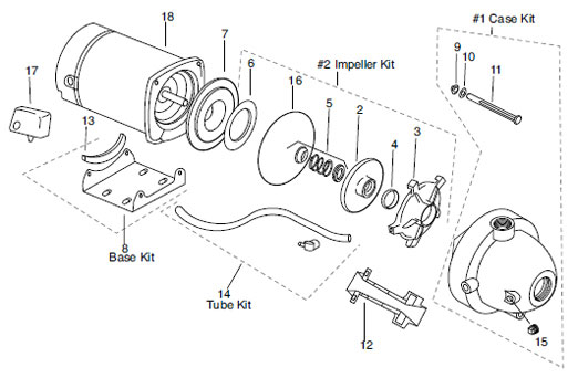 franklin 5cy 2 hp  115  230v  plastic jet pump